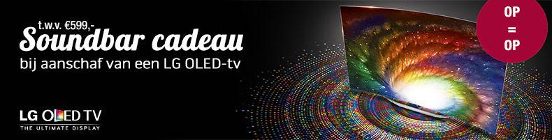 LG soundbar cadeau bij OLED-tv