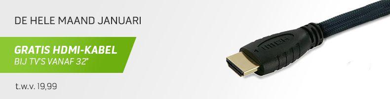 Gratis HDMI-kabel bij tv's > 32