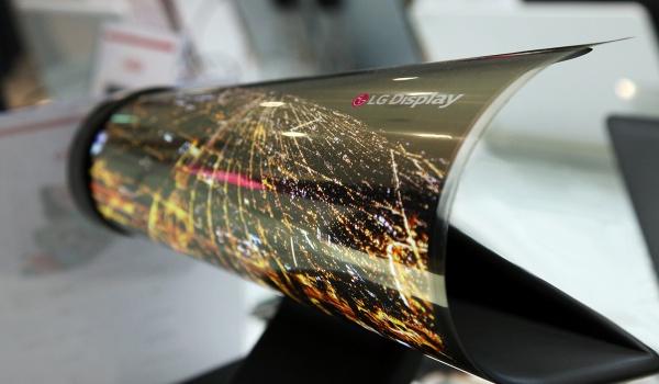 LG oprolbaar en transparant scherm