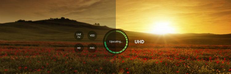 Samsung UE40KU6400 upscaling