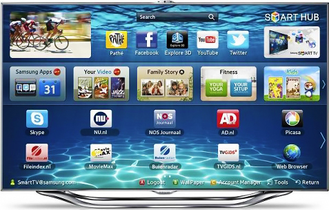 Apps op de Samsung Smart-tv